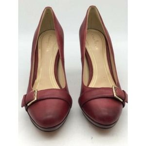 Womens Cole Haan Dress Shoes Burnished Red Pumps